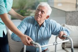 elder man in home care